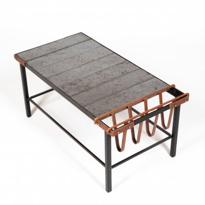 Rare coffee table by French decorator Jacques Adnet