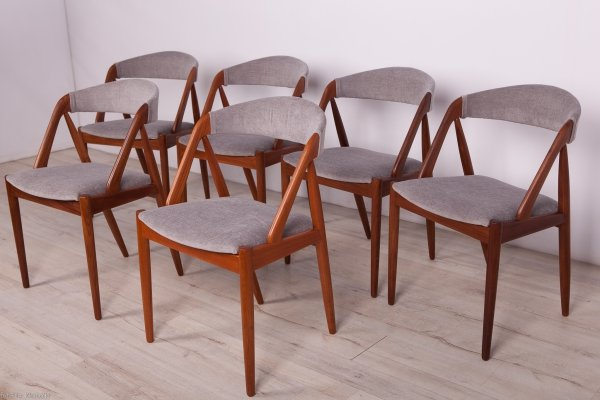 Set of 6 Model 31 Dining Chairs by Kai Kristiansen for Schou Andersen, 1960s