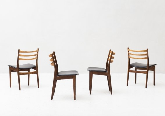 Set of 4 dining chairs by Topform, Dutch design 1960's