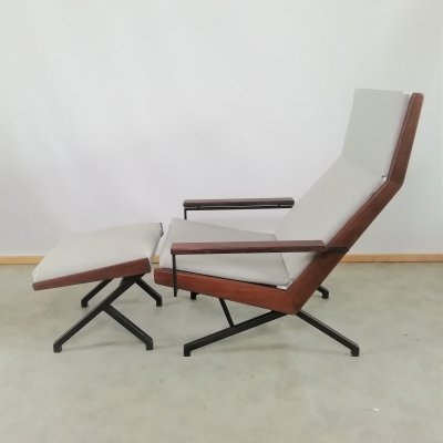 Rob Parry 'Lotus' Lounge Chair with ottoman for Gelderland, 1950's