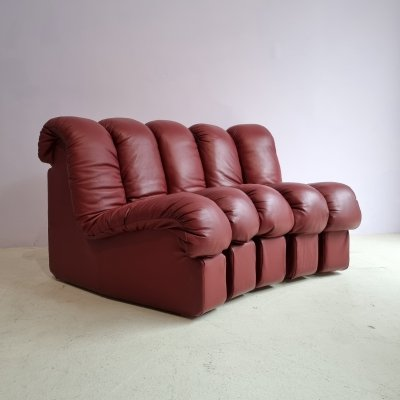 DS600 sofa in Bordeaux Leather by Ueli Berger for de Sede, 1970s