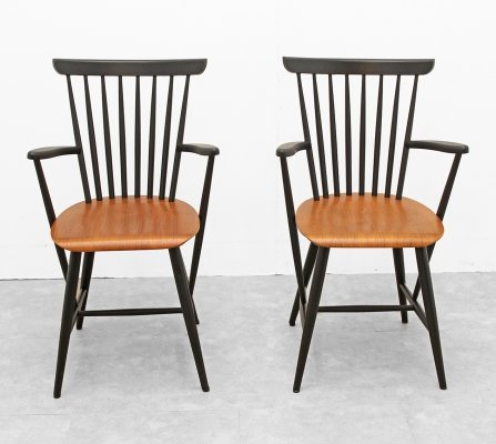 Couple of wooden armchairs, 1960s