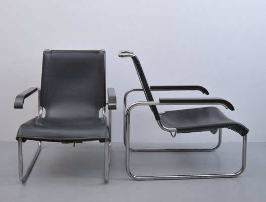 2 x S35 lounge chair by Marcel Breuer for Thonet, 1970s