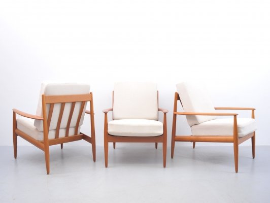 3 x lounge chair by Grete Jalk for France & Daverkosen, 1960s