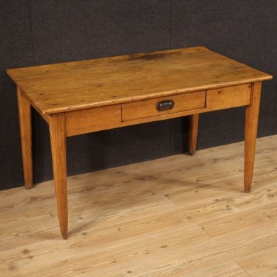 20th Century Chestnut, Pine, Fruitwood French Writing Desk, 1970