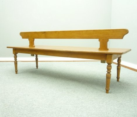 Antique Softwood Double Bench, 1920s