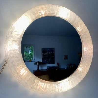 XL back lit mirror by Egon Hillebrand with 10 lights, 1960s