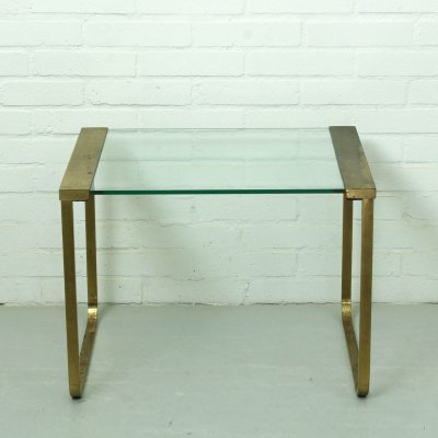 Mid Century Hollywood Regency Coffee Table in brass & glass, Italy 1970s