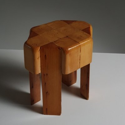 1970s Sculptural plant table in solid wood
