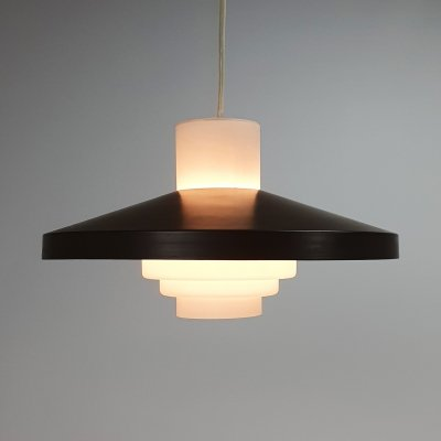 Mid Century Pendant by Philips with Opaline glass, 1960s