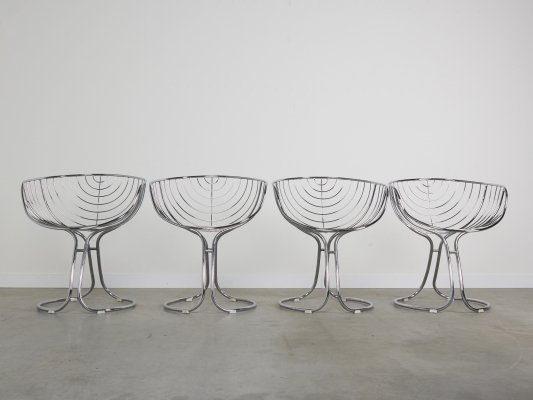 Pan Am dining chairs by Gastone Rinaldi for Rima, Italy 1960s