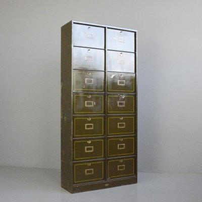 Industrial Pigeon Hole Cabinet by Morgan Strasbourg, Circa 1910