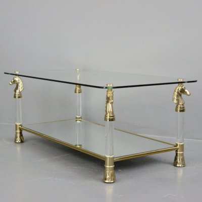 Hollywood Regency Coffee table by Maison Charles, Paris Circa 1970s