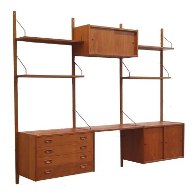 Large Danish design wall system / wall unit by Peter Sorensen, 1960s