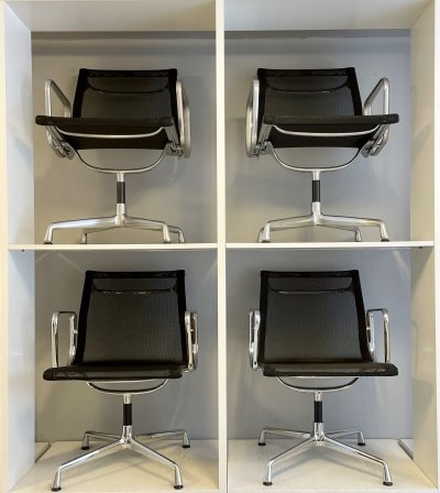 Set of 4 EA108 office chairs by Charles & Ray Eames for Herman Miller, 1980s