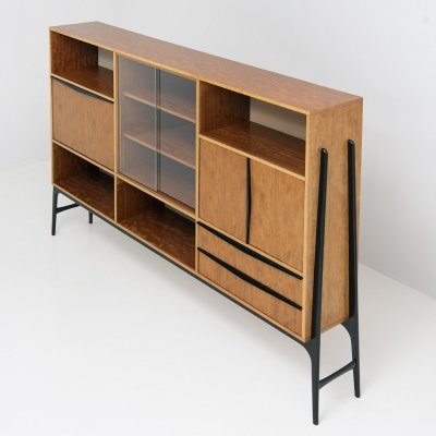 Rare High Bar Cabinet by Alfred Hendrickx, 1940s