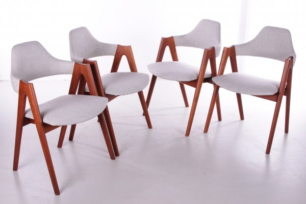Set of 4 Danish Design dining table chairs by Kai Kristiansen, 1960s