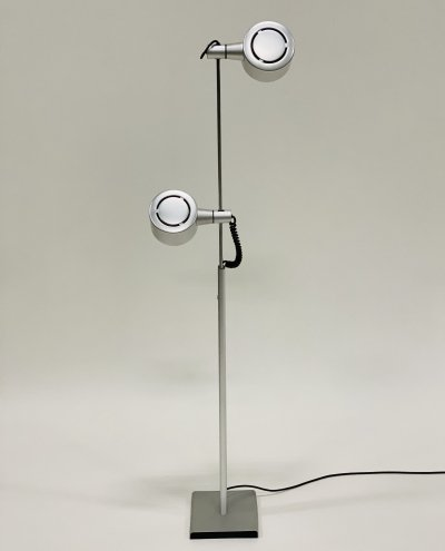 QC twin spotlight floor lamp by Ronald Homes for Conelight Limited, UK 1970s