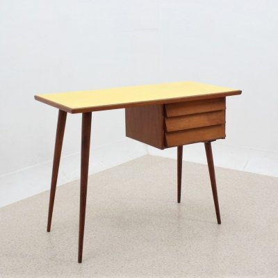 Mid century cherry wood desk with formica top