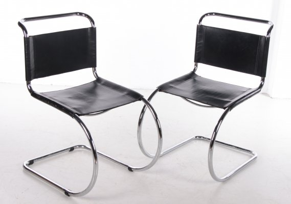 Pair of Vintage MR10 chairs by Ludwig Mies van der Rohe for Knoll, 1960s