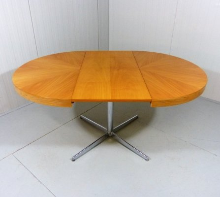 Round-Oval Retractable dining table, 1960's