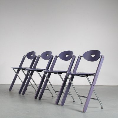 1980s Ruud-Jan Kokke folding chairs for Kembo, Netherlands