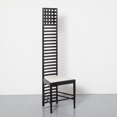 First Edition Hill House Chair by Charles Rennie Mackintosh for Cassina, 1980s