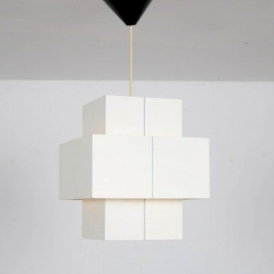 1960s Cubic hanging lamp from the Netherlands