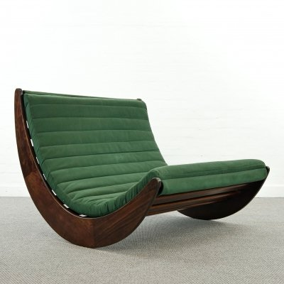Vintage tandem relaxer rocking chair by Verner Panton for Rosenthal, Germany 1970s