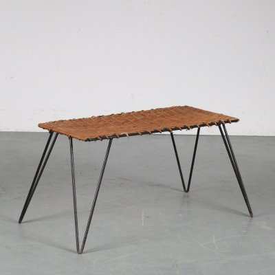 1950s Wicker coffee table from the Netherlands