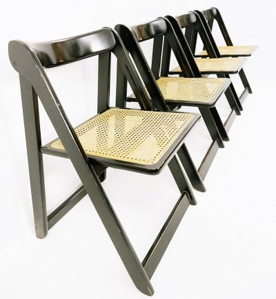 Set of 4 Trieste Lacquered Folding Chairs for Bazzani, 1960s