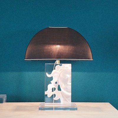 Sculptural Acrylic Table Lamp by FabianArt Italy