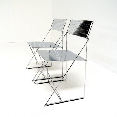Special edition X-line chairs by Niels Jorgen Haugesen for Magis