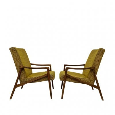 Pair of armchairs by J. Jiroutek, 1960s