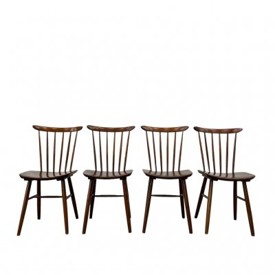 Set of 4 chairs by TON, 1960s