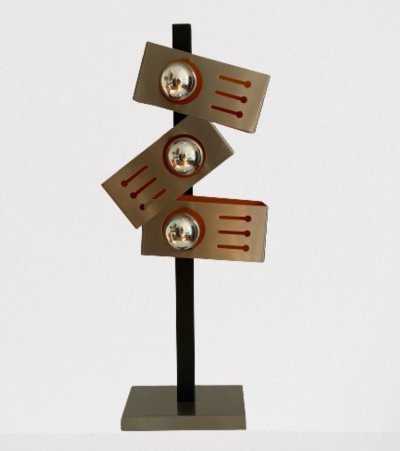 Space age 70s desk lamp with three mirror lamps