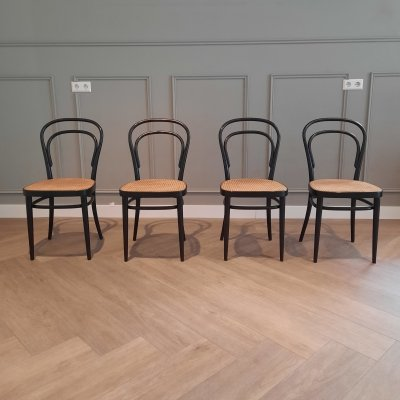 Set of 4 Thonet 214 R Dining Chairs, 1983