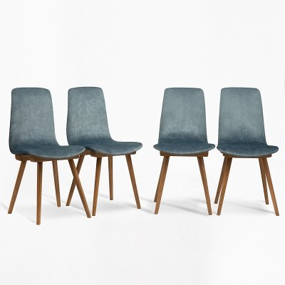 Set of 4 bent chairs, 1960s