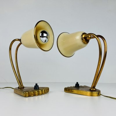 Pair of mid-century murano bedside lamps, Italy 1950s