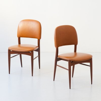 Pair of Italian Side or Desk Chairs, 1950s