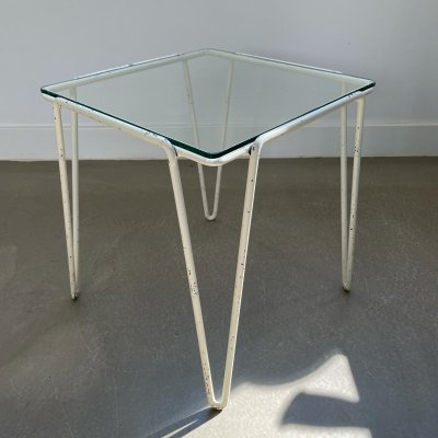 Spurs hairpin side table by Arnold Bueno de Mesquita, 1950s