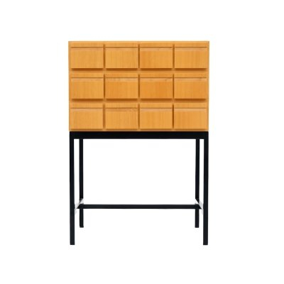 Chest of Drawers / File Cabinet in Ash Wood, 1970s