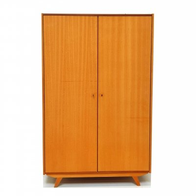 Vintage wardrobe with shelves & hanging area, 1960s