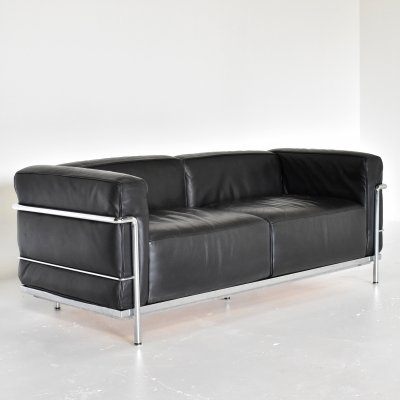 LC3 sofa by Le Corbusier & Charlotte Perriand for Cassina, 1990s