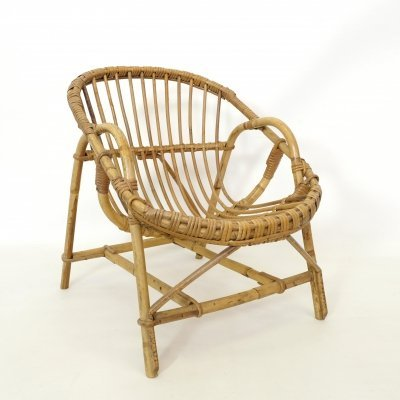 French rattan child's chair, 1960-1970