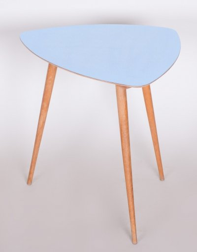 Small Blue Midcentury Coffee Table, Czech 1950s