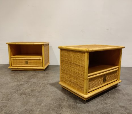 Pair of bedside night stands by Dal Vera, 1960s
