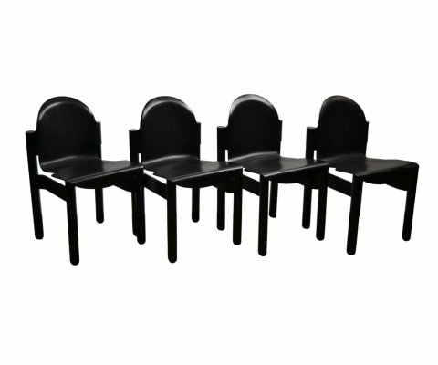 Set of 4 Flex 2000 dining chairs by Gerd Lange for Thonet, 1980s