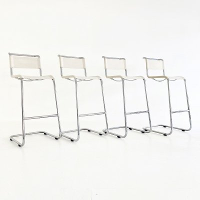Set of 4 S39 L stools by Marcel Breuer & Mart Stam for Thonet, 1960s