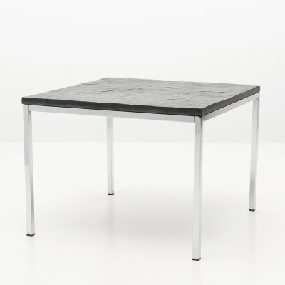Square Modernist Low Table with Slate top, 1950's